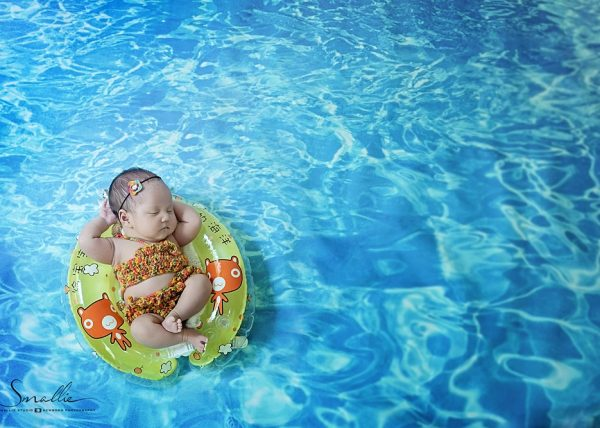 newborn swiming