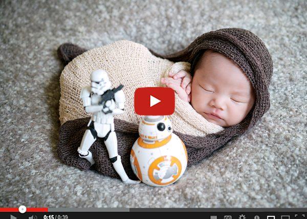 เบื้องหลังการถ่าย Rey newborn (star wars)