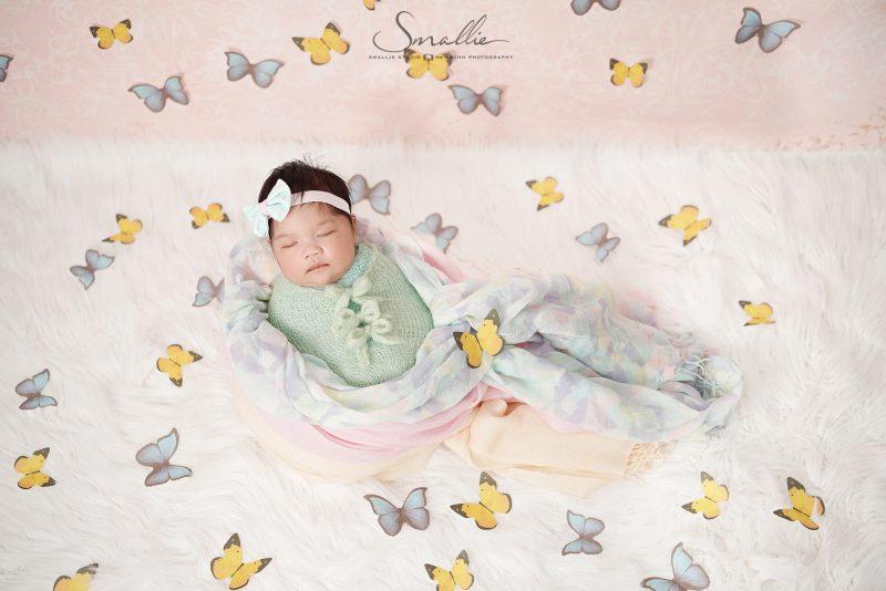 newborn photography butterfly