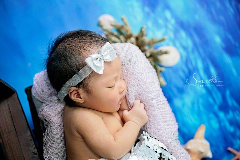 newborn swiming