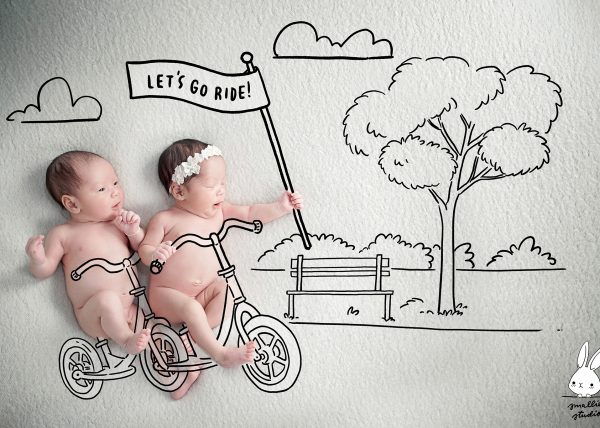 newborn bicycles drawing