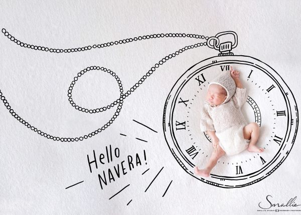 newborn drawing clock