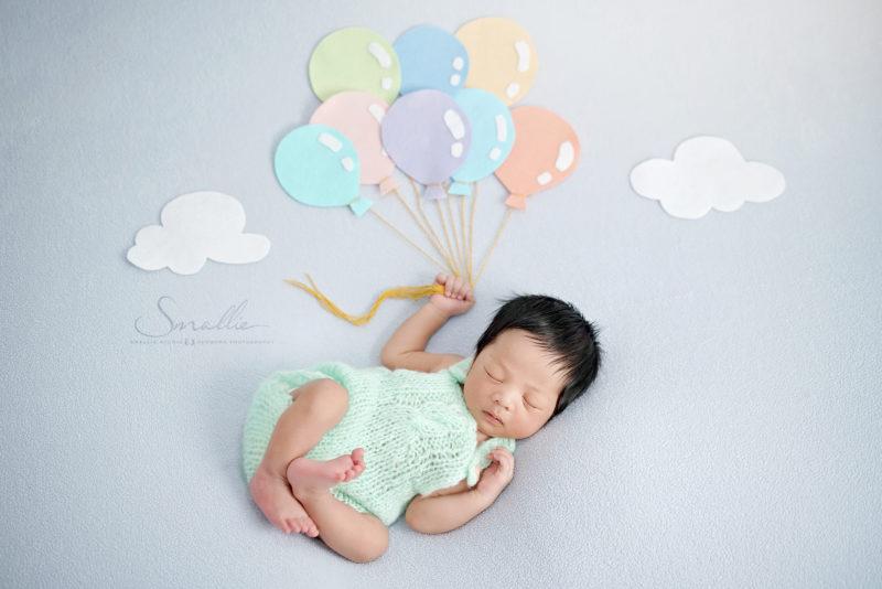 at home newborn Blue Pastel theme
