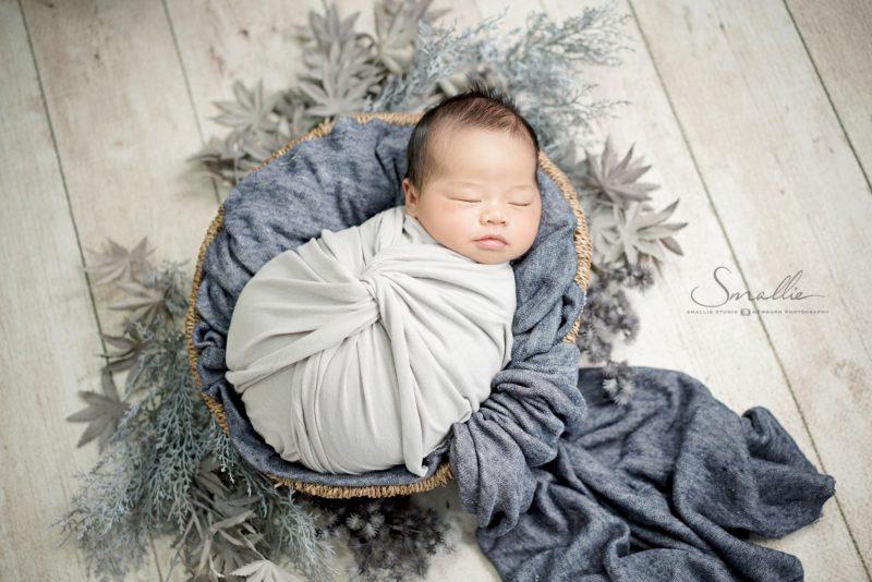 at home newborn Satin Gold theme